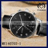fashion stainless steel mechanical men's stop watch*quality mechanical stop watch for men