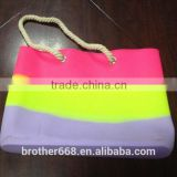 High Quality China factory OEM & Customise silicon beach bag with rope handle                                                                         Quality Choice