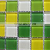 Iridescent Glass Mosaic Tile Marine Aqua Blend,bathroom mosaic,swimming pool tile, wall and floor decorative mosaic tile