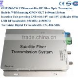 GLB3500-2W satellite RF fiber linK/1550nm optical network satellite RF and TV RF/Fiber optic transmitter