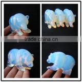 wholesale gemstone animal carvings,stone bear statue