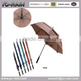 American style double layer vent golf umbrella YR1063