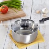 Charms Classic Stainless Steel Induction Milk Pan or Saucepan 16cm with tempered glass lid