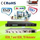 4 ASI /1 RF in ISDB-T modulator for catv headend