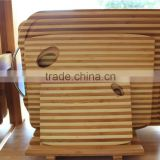 Eco-Friendly Beautiful Zebra Bamboo Wood Cutting Board with hole