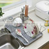 Single wire dish rack Metal kitchen shelf bowl chopsticks tableware receive waterlogging caused by excessive rainfall