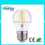 2016 dimmable G45 E27 filament G45-4DIM 4W hot edison filament led led lamp for the house dimmable filament led bulb