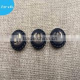 Epoxy dome black color cover snap fasteners for clothing, luminous clothing button, fasteners for clothing