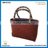 natural bamboo basket weaving hand made bamboo woven tote bag