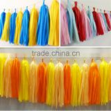 Warm Color Hanging Handmade Tissue Paper Garland