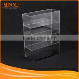 Tall clear acrylic compartment jewelry box and storage case with 4 drawer and door