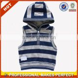 Striped Boys Sleeveless Hoodies Without Zipper Cheap