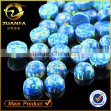 9mm flat back round cabochon blue opal stone for jewelry making                                                                         Quality Choice