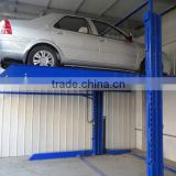 simpe type 2 post double cars parking lift for home garage