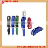 Custom logo, Multifunctional and multicolor Ballpoint Pen with Kinfe, Bottle Opener and Carabiner                                                                         Quality Choice