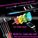For iphone Samsung Enhancing Selfie Using Sync LED Flash led video light for DISR monopod selfie stick smartphone
