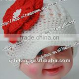 wholesale 100% cotton summer hats 2012 hair accessory cheap price hats cute white baby caps with fowers