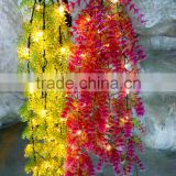 Latest Realistic Romantic LED Artificial Wisteria Vine artificial plastic ivy for Home Party Wedding Simulation Decor