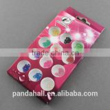Iron Ball Bead Chain Metallic Nail Sticker, Nail Art Decoration Accessories(MRMJ-R033-11)