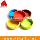 Made in China Silicone Rubber Round Gift Smoke Absorbing Smoking Accessories Ashtray Factory