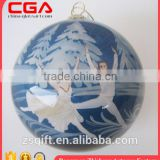 brilliant inside-painted glass globe christmas tree decor Ballet dancer Christmas Decoration 2016 Popular design