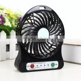 Factory Wholesale rechargeable Mini USB Fan stand fan price, usb rechargeable hand mini fan