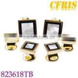 Fashion metal cufflink and studs set for men with gold plated