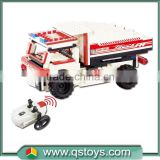 Shantou toys factory building blocks rc tipper truck remote control car