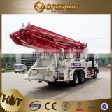 Mobile concrete mixer with pump XCMG HB37B small portable concrete pump