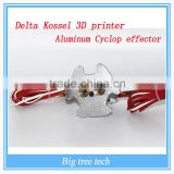 Factory Selling Delta Kossel 3D printer aluminum Cyclop effector + hot end assembly kit 1.75mm filament for kossel