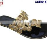 CSB6147(1-12) The newest design and different style of the slipper with stones and beads very fashionable