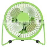360 degree rotating usb cooling table metal electric home office laptop portable desk mini fan 4""