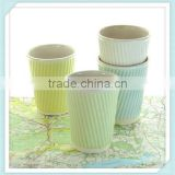ceramic travel mug with lid. White porcelain cups. Ceramic travel cups for use as a tea cup, coffee cup