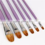 6pcs Weasel Hair Wood Oil Painting Brush Set Acrylic Watercolor Brush Pen Art Supply Professional paint Brush