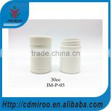 white colored HDPE plastic spirulina tablets bottle with OEM logo label sticker