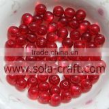 Red 8MM Natural quartz gemstone Chunky Jewelry Resin Bubblegum Ball Necklace Wholesale Crystal Loose Bead
