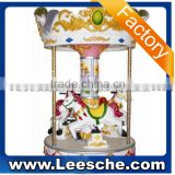 2015 coin operated carousel horses 3 seats mini carousel for sale small electric merry-go-round amusement park equipment rides
