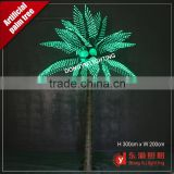 3.0 meter height high standard outdoor decoration green light artificial light palm tree