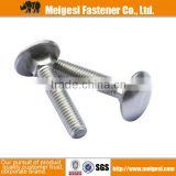 Supply fastener with good quality Type U8642 Carbon steel Galvanized Steel Carriage Bolts