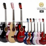 38 inch Cowboy cheap colorful Chinese guitar student guitar for beginner made in China 38C