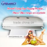 Sun Bath solarium Skin tanning bed ! Tan machine lying beds 24PCS/28PCS Lamps home solarium bed