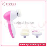 beauty salon equipment taobao Factory Price 5in1 facial cleaning brush set with scar removal cream