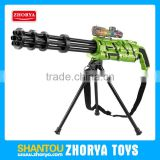 High simulation B/O 2 colours Gatling gatlin gun toys water bullet gun soft bullet gun toys