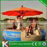 New type Electric motor barbecue round boat with battery,BBQ donut boat for sale