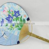 Popular the lowest price use gift OEM avalible bamboo craft bamboo fan with beautiful picture