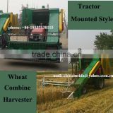 Factory Price 4LD-2 Wheel Tractor Mounted tractor wheat Combine harvester/ Wheat Combine Harvest machine