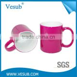 Magic Sublimation Temperature Sensitive High Quality porcelain Custom Color Changing Mug