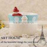 700ml ceramic sugar bowl ceramic cereal bowl christmas small bowl for candy cheap color bowl