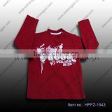 red boys t-shirt