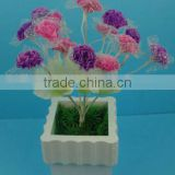 Artificial carnations flowers plastic
